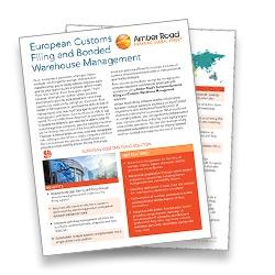 Amber Road European Customs Filing and Bonded Warehouse Management Brochure LP