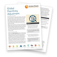 Amber Road Global Post Entry Adjustment Brochure-LP