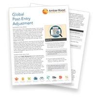 Amber Road Global Post Entry Adjustment Brochure-LP