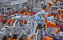 Factory making cars