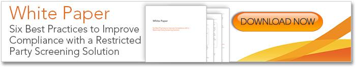 Restricted Party Solution Best Practices White Paper